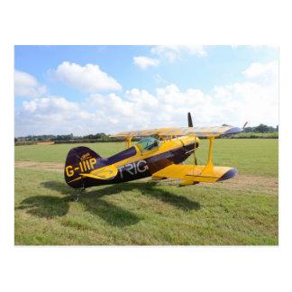 Cartão Postal Biplano Aerobatic em The Field