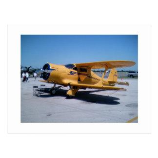 Cartão Postal Biplano amarelo