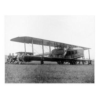 Cartão Postal Biplano Avião de passageiros, 1919