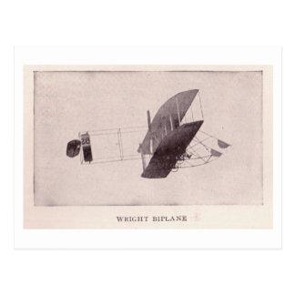 Cartão Postal Biplano de Wright