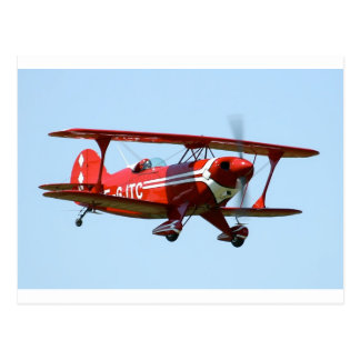 Cartão Postal Biplano vermelho