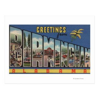 Cartão Postal Birmingham, Alabama - grandes cenas da letra