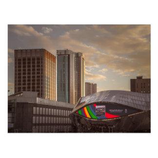 Cartão Postal Birmingham na luz do por do sol