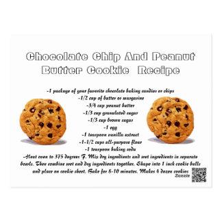 Cartão Postal Biscoito de manteiga do amendoim dos pedaços de