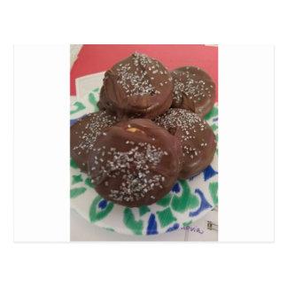 Cartão Postal Biscoitos caseiros do chocolate