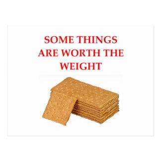Cartão Postal biscoitos de Graham
