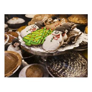 Cartão Postal Biscoitos do Natal na exposição em uma Nova Iorque