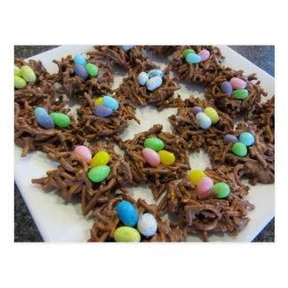 Cartão Postal Biscoitos do ninho do pássaro do chocolate