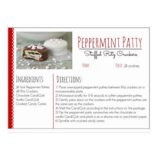 Cartão Postal Biscoitos enchidos de Ritz do rissol de Peppermint