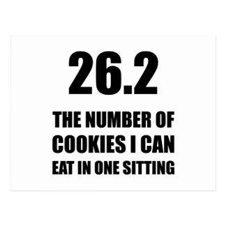 Cartão Postal Biscoitos eu posso comer a maratona