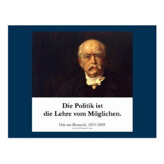 Cartão Postal Bismarck, ISTs de Politik morre vom Möglichen de