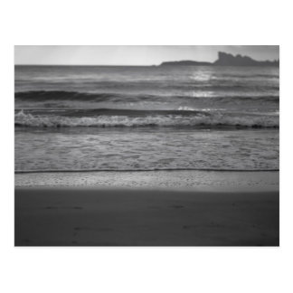 Cartão Postal Black and white seaside landscape