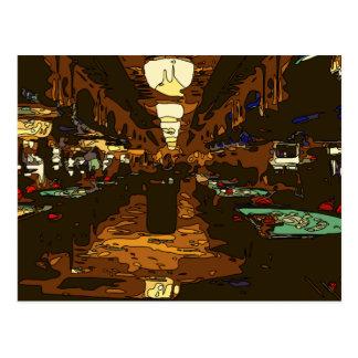 Cartão Postal Black Jack e mesas do póquer em Las Vegas