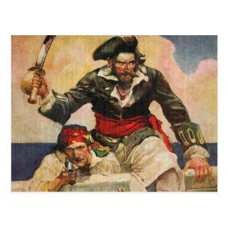 Cartão Postal Blackbeard o Buccanneer
