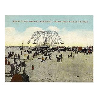 Cartão Postal Blackpool, máquina de vôo do máximo
