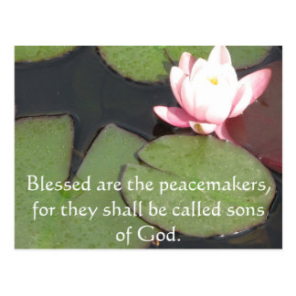 Cartão Postal Blessed é os pacificadores, porque devem ......