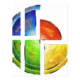 Cartão Postal Blessinia - sol colorido