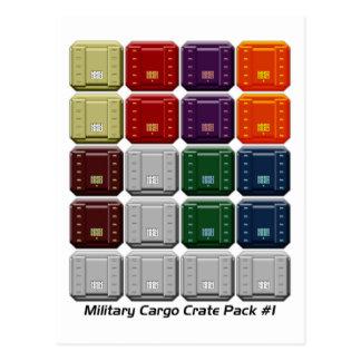 Cartão Postal Bloco militar #1 da caixa da carga