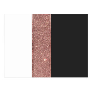 Cartão Postal Blocos brancos da cor do preto cor-de-rosa moderno