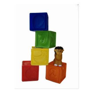 Cartão Postal blocos coloridos do jogo do bebê