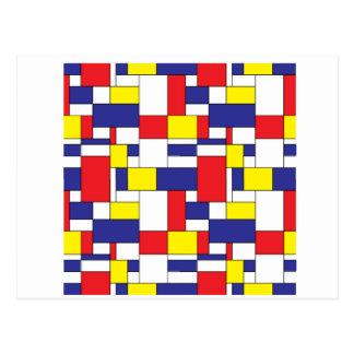 Cartão Postal blocos da cor