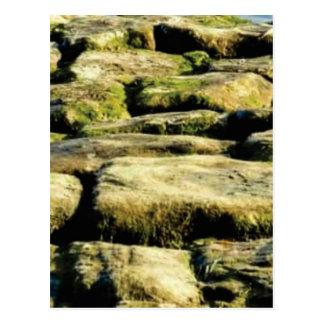 Cartão Postal blocos do amarelo de rocha