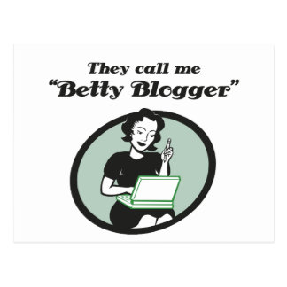 Cartão Postal Blogger de Betty