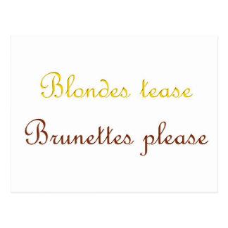 Cartão Postal Blondes&Brunettes