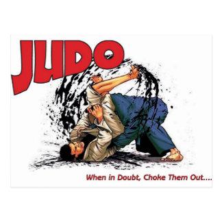 Cartão Postal Bloqueador do judo para fora