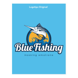 Cartão Postal Blue Fishing Products
