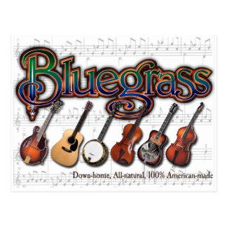 """Cartão Postal """"Bluegrass - 100% Americano-Feito """""""