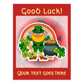 Cartão Postal Boa sorte!