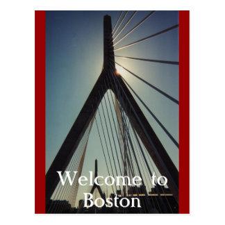 Cartão Postal Boa vinda a Boston