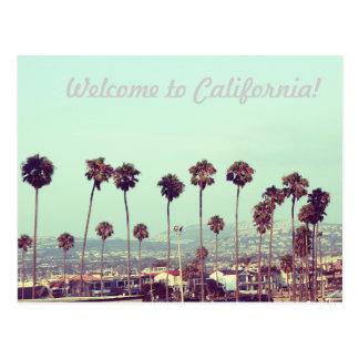 Cartão Postal Boa vinda a Califórnia!