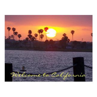 Cartão Postal Boa vinda a Califórnia