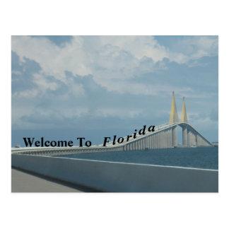 Cartão Postal Boa vinda a Florida