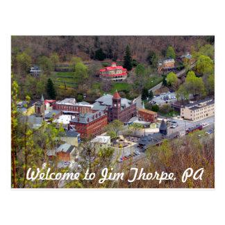 Cartão Postal Boa vinda a Jim Thorpe