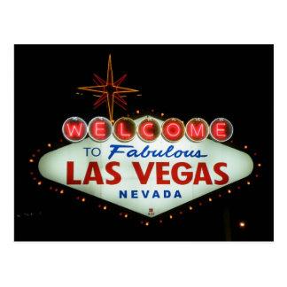 Cartão Postal Boa vinda a Las Vegas fabuloso - Nevada
