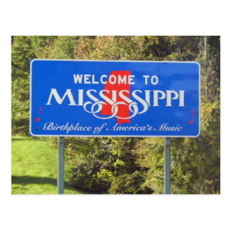 Cartão Postal Boa vinda a Mississippi