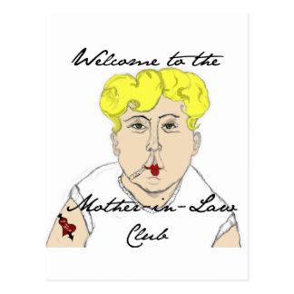 Cartão Postal Boa vinda ao clube da sogra