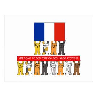Cartão Postal Boa vinda ao estudante de câmbio francês