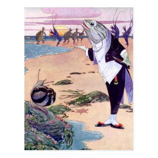 Cartão Postal Boa vinda ao Quadrille da lagosta