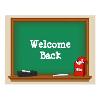Cartão Postal Boa vinda de volta à escola