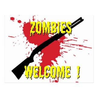 Cartão Postal Boa vinda dos zombis