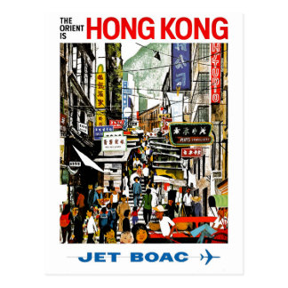 Cartão Postal BOAC - Hong Kong