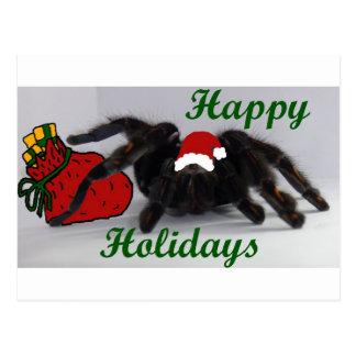 Cartão Postal Boas festas! … com um Tarantula?