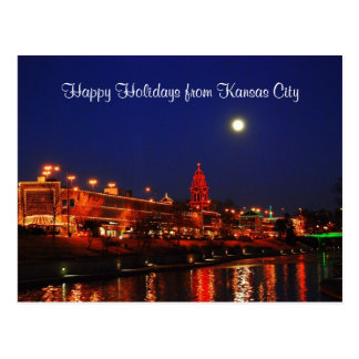Cartão Postal Boas festas das luzes da plaza de Kansas City