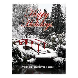 Cartão Postal Boas festas - ponte e lagoa da lua