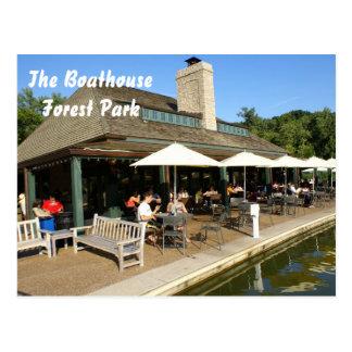 Cartão Postal Boathouse em Forest Park