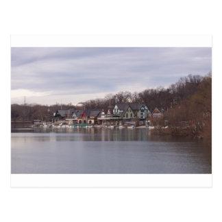 Cartão Postal Boathouses da universidade e da faculdade em